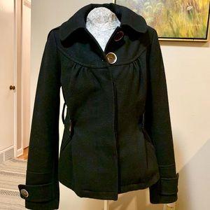 Anthropologie Wool Hooded Coat